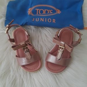 Tods Mauve Baby Sandals